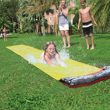 Waterslide Inflatable For Kids Fun Outdoor Slip Pool Splash Park Outdoor Toys Single Surfboard Garden Toy Summer Dropshipping