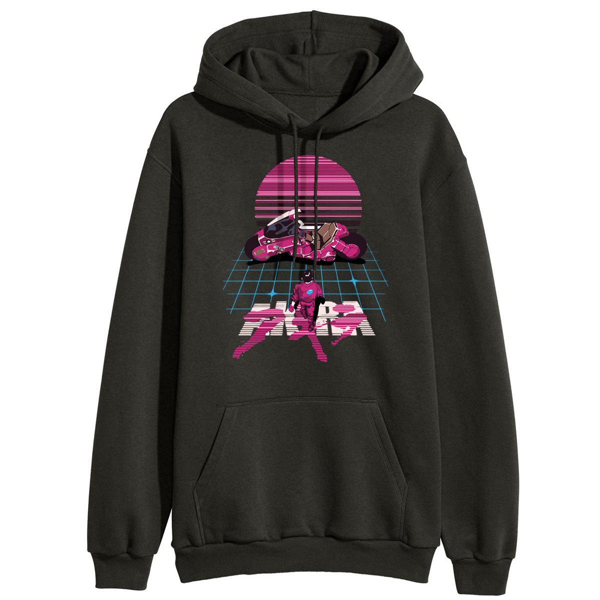 Akira Synthwave Japanese Anime Hooded Sweatshirt 2019 Winter Casual Women Hoodies Tracksuit Hip Hop Style Fitness Fashion Hoodie