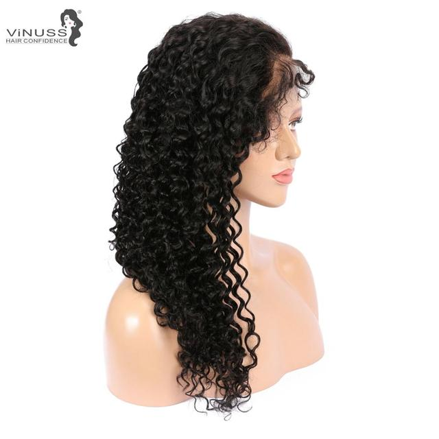 Vinuss Full Lace Human Hair Wigs For Black Women deep wave Lace Front Wigs Brazilian Remy Pre Plucked Bleached Knots 2