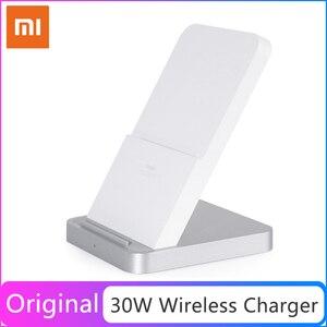 Image 1 - Cargador inalámbrico refrigerado por aire Vertical Original Xiaomi 30W Max con carga de Flash para teléfono inteligente Xiaomi Mi
