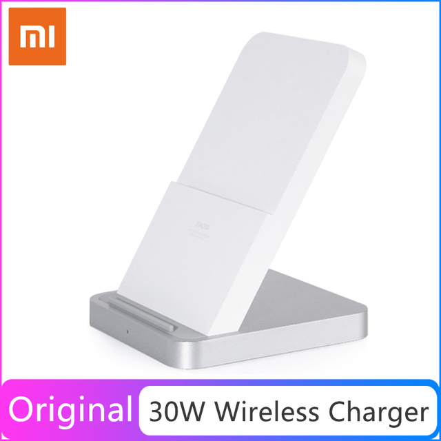 Original Xiaomi Vertical Air cooled Wireless Charger 30W Max with Flash Charging for Xiaomi Mi Smartphone