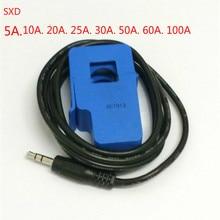 1 шт. SCT013 высокое качество 5A 10A 15A 20A 30A 50A 60A SCT-013-060 неинвазивный датчик переменного тока разделенный сердечник трансформатор тока
