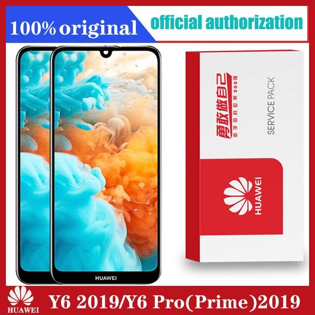 Оригинальный ЖК дисплей для Huawei Y6 2019/ Y6 Pro 2019/ Y6 Prime 2019, сенсорный экран с дигитайзером и рамкой, ЖК дисплей, сенсорные детали