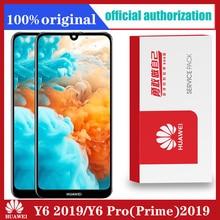 Oryginalny dla Huawei Y6 2019/ Y6 Pro 2019/ Y6 Prime 2019 wyświetlacz LCD ekran dotykowy Digitizer z ramą wyświetlacz LCD części dotykowe