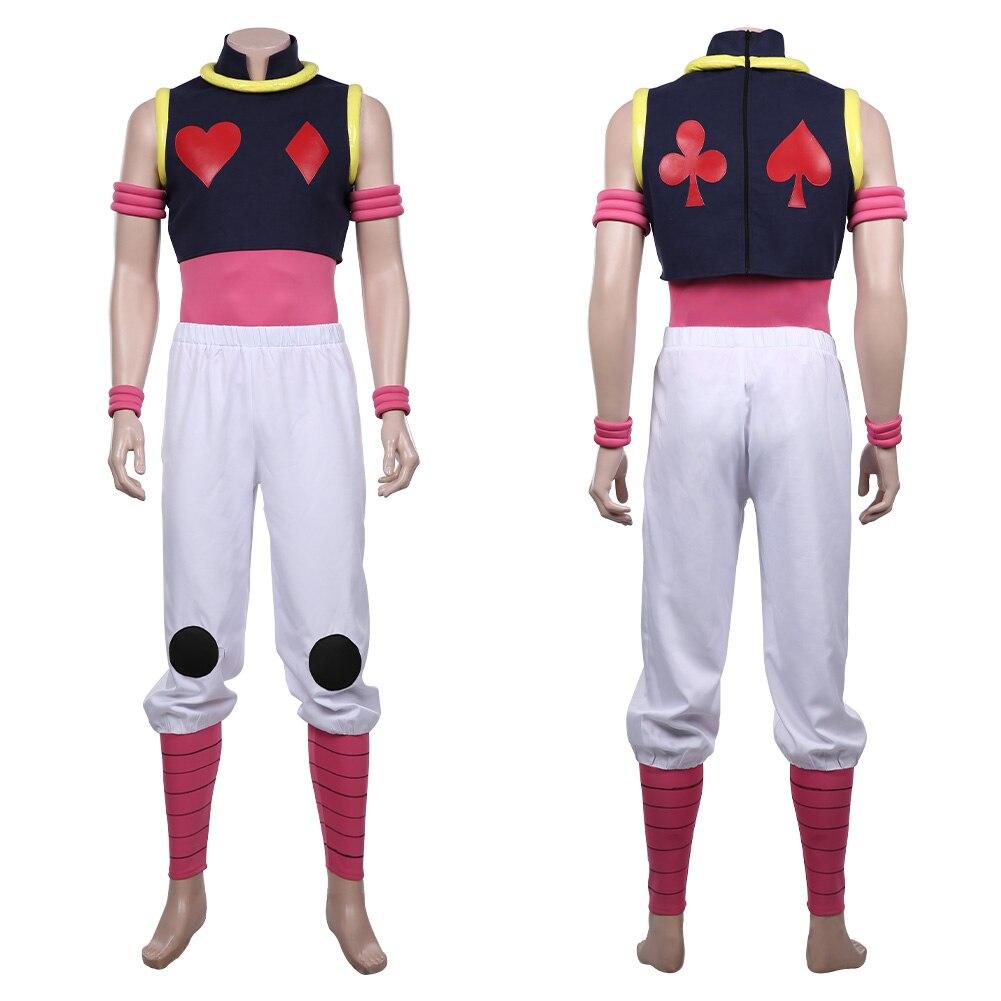 HUNTER×HUNTER Hisoka Cosplay Costume Vest Pants Outfits Halloween Carnival Suit