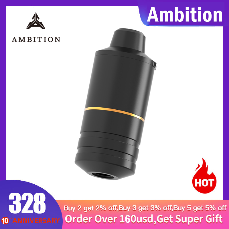 Ambition Rotary Tattoo Pen Machine Swiss Engine 10V 12000rpm Best Machine For Lining And Shadering 38mm Grip For Male Big Hand