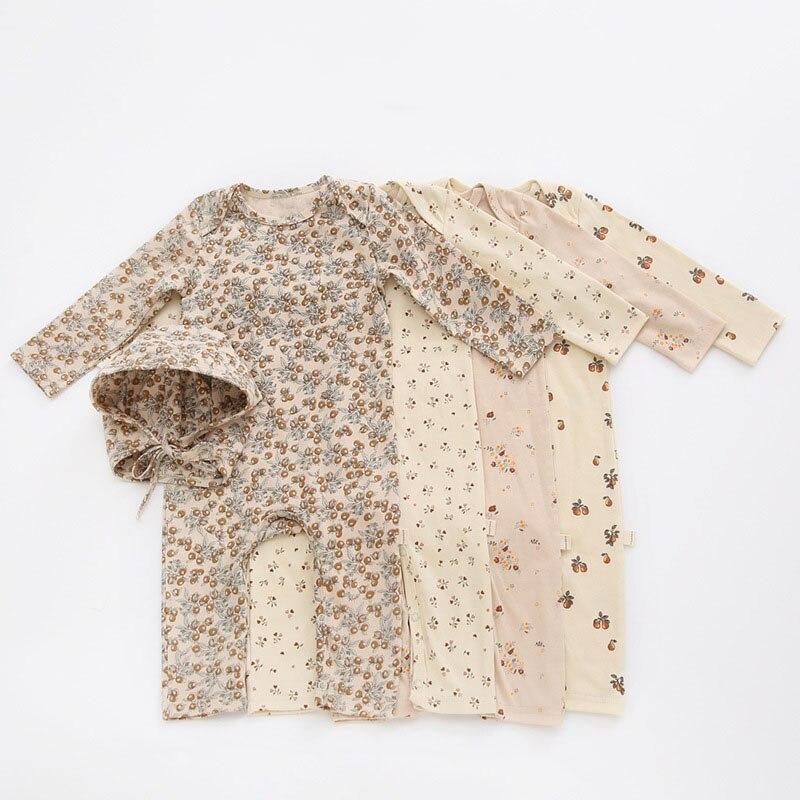 268.0¥ 31% OFF|0 24M Newborn Kid baby Boys Girls Clothes Autumn Print Romper Cute Sweet Cotton Jump...