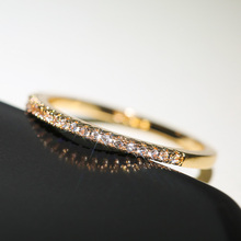 New 2021 Minimalist Thin Rings for Women Wedding Brilliant Cubic Zircon High Quality Versatile Female Finger Ring Jewelry
