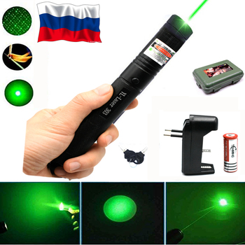 Hunting Green Laser 303 Purple Red Laser Pointer Laser Sight  Hight 10000m 532nm Powerful Adjustable Focus Lazer with Burning most powerful military 100w 100000m 532nm green laser pointer pen flashlight lazer light focus burning burn cigarettes hunting