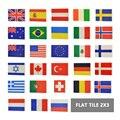 Изготовленные на заказ печатные плитки 2x3 строительные блоки с национальными флагами ЕВРОПА ЕС США Великобритания MOC кирпичные строительны...