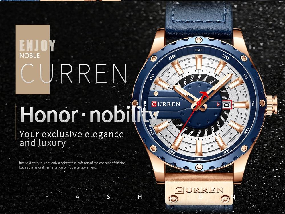 H8b87b4201edd4173910d831175033999q CURREN Watch Wristwatch  New Chic Luminous hands