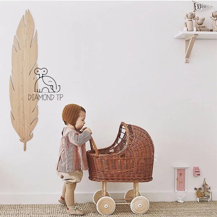Nordic Wind Restores Ancient Ways Cane Weaves Barrow Children's Room To Decorate Every Small Barrow Studio Photograph Prop New