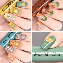 KADS nouveau estampage vernis à ongles timbre vernis à ongles laque couleurs pures pour bricolage Nail Art estampage plaque outil impression vernis