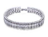 Boetiek brand rhinestone silver plated women classic bracelets