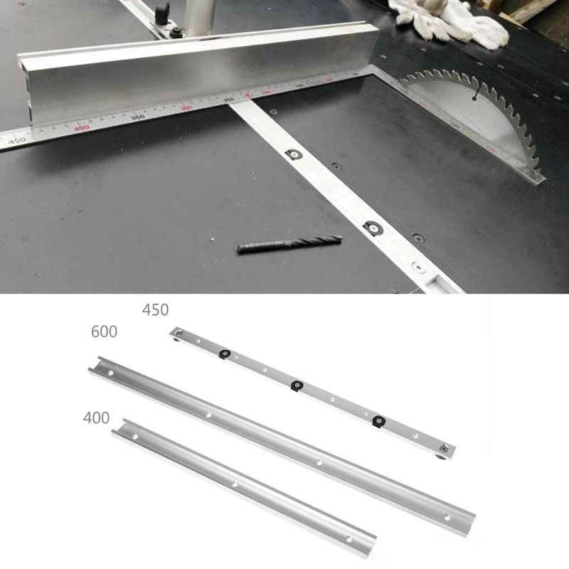 400/450/600mm T-tracks Aluminum Slot Miter Track Jig Fixture For Router Table Bands