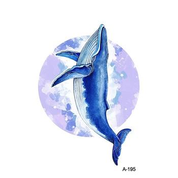 WYUEN Animal Beast Dolphin Waterproof Temporary Tattoo Sticker Whale Tatoo for Adults Kids Bear Tiger Women Body Art Fake Tattoo 4