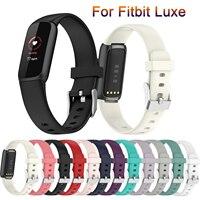 Correas para Fitbit Luxe, repuesto de silicona suave, resistente al agua, accesorios para reloj inteligente Fitbit Luxe