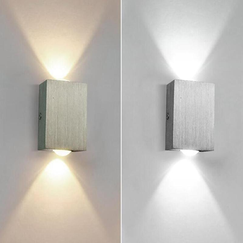 Outdoor Square Wall Light LED Night Lamp Waterproof Corridor Aisle Hotel Villa Outdoor Corridor Stairs Step Lighting 80X50X30MM|Outdoor Wall Lamps| |  - title=