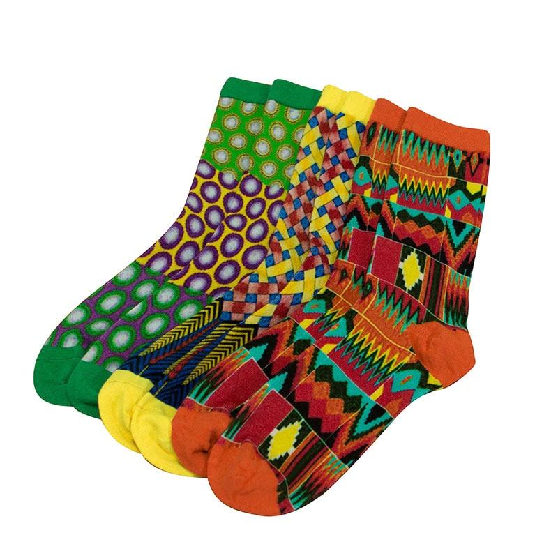 3 Pairs/pack Women Socks African Print Colorful Soft Floor Socks Leisure Bamboo Fiber African Women Sock Gift Female WYB526