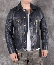شحن مجاني. 2020 جديد رجل سليم سترة جلدية حقيقية ، الكلاسيكية 507 نمط معطف جلد الغنم ، سترة جلدية عادية ، والأزياء