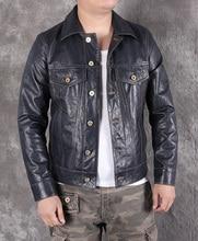 Free shipping.2020 new Mens slim genuine leather jacket,classic 507 style sheepskin coat,casual leather jacket,fashion