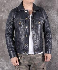 Image 1 - Ücretsiz shipping.2020 yeni erkek slim hakiki deri ceket, klasik 507 tarzı koyun derisi ceket, rahat deri ceket, moda
