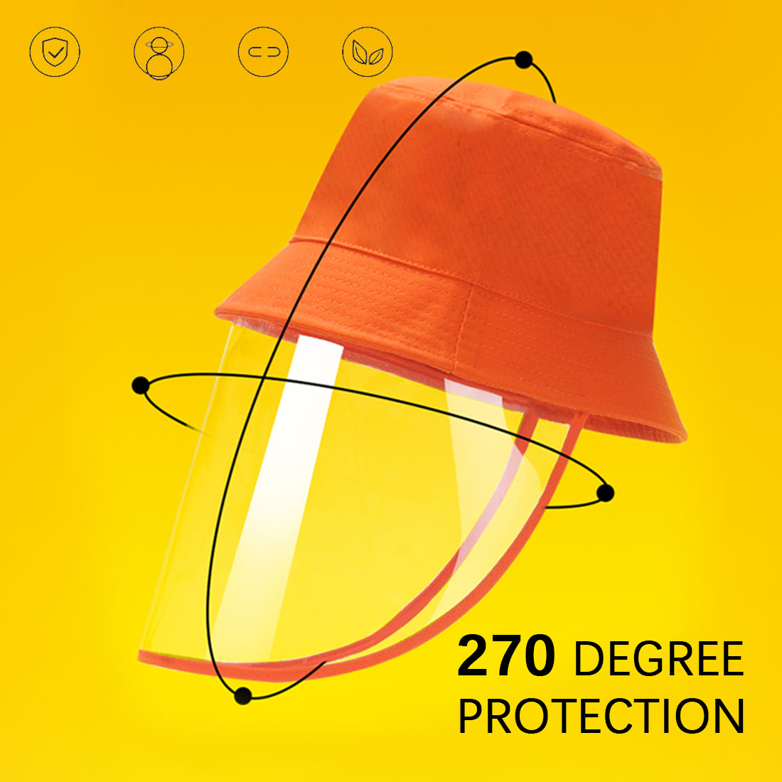 Anti Infection Protective Hat Multi-function Protective Cap  Eye Protection Anti-fog Windproof Hat Anti-saliva Face Cover Cap