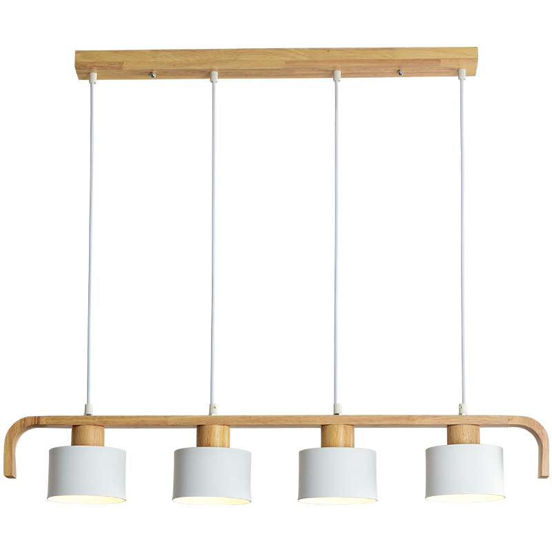 Modern LED Pendant Lights With Metal Lampshade For Dining Wooden Hanging Lamp E27 Wood Kitchen Luminaire