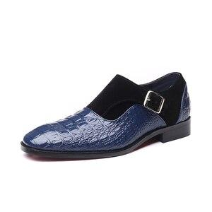 Image 3 - 2020 בעבודת יד עור אבזמי גברים של שמלת נעלי עסקי נעלי אוקספורד פורמליות חתונה משרד גבר נעלי הנעלה לנשימה