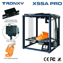 Tronxy New Upgarde X5SA PRO CoreXY Guide Rail 3D Printer Titan Extruder Flexible Filaments FDM Big Printing Size DIY Machine