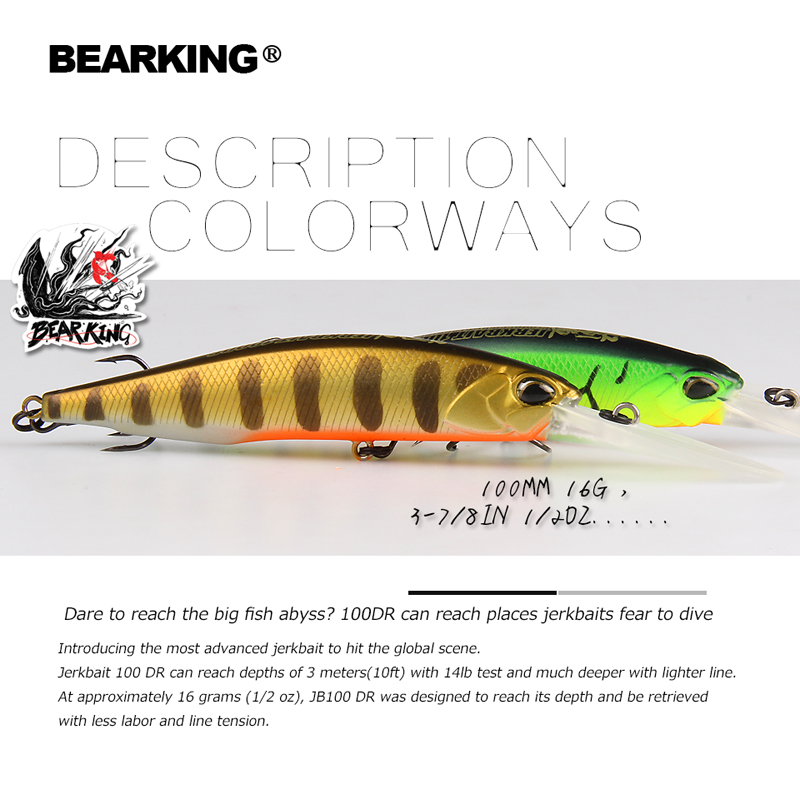BEARKING Fishing Lures Minnow Wobblers Magnet-Weight-System Long-Casting Hard-Bait 10cm