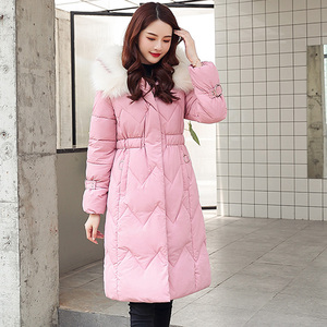 Image 2 - 2020 Winter New Parkas Womens Thicken Down Cotton Jacket Coat Warm Down Cotton Coats Female Hooded Solid Jackets Long Slim Thick