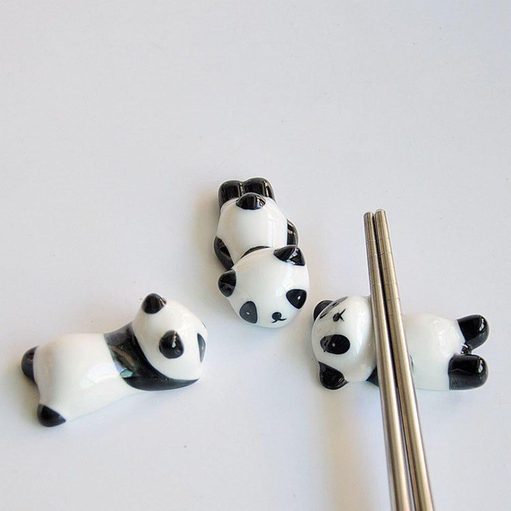 Hot New Cute Cartoon Panda Ceramic Chopsticks Holder Chopsticks Holder Stand Practical Fashion Kitchen Tableware Free Shipping