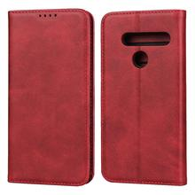 цена на Magnetic PU leather Flip case for LG G8 G7 G7 ThinQ Stand wallet protective Case for LG V36 LG K50 Case with Card Slots