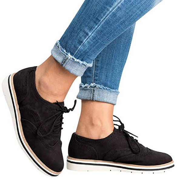 CYSINCOS Brogue Shoes Woman...