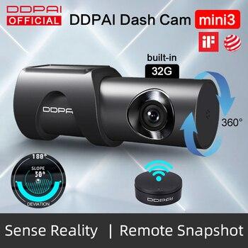 DDPai Dash Cam Mini3 1600P HD Dvr Car Camera Auto Drive Vehicle Video Recroder Android Wifi Parking Monitor 360° Rotation Camera