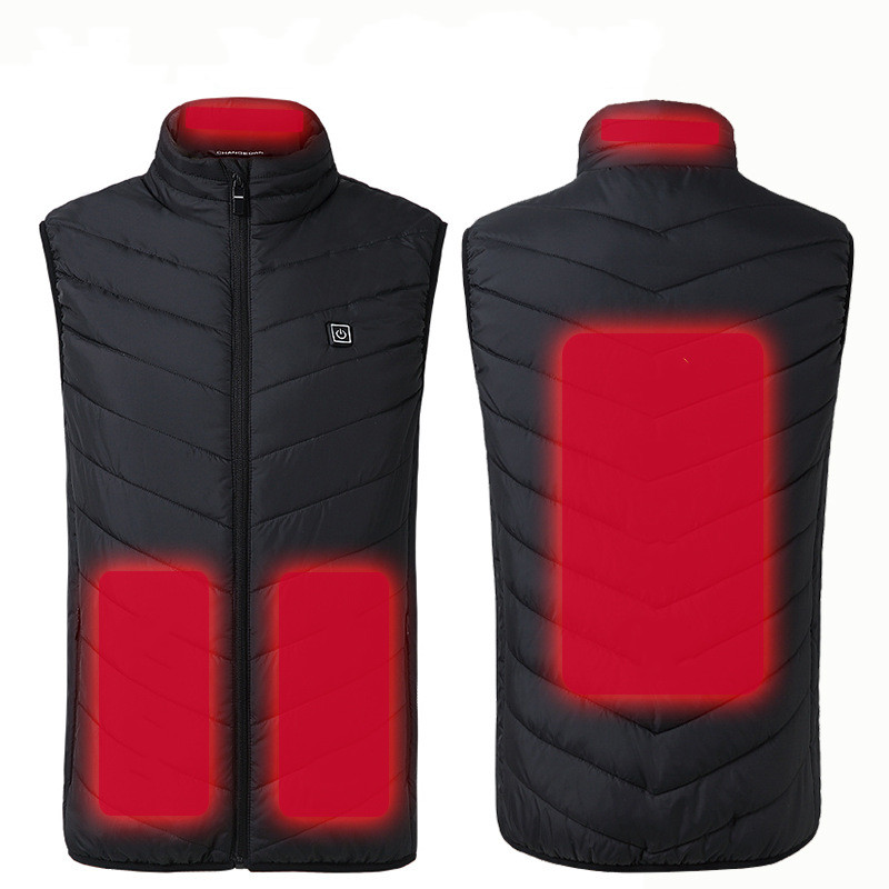 Winter Outdoor Warm USB Heated Jacket Vest Electric Thermal Clothing Waistcoat Women Men Hiking Camping Cycling Dropshipping