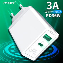 36W Dual USB Charger Quick Charge 4.0 3.0 Fast Charger US EU UK Plug QC3.0 PD Charger Adapter For iPhone 11 X XR XS 8 Xiaomi Mi9 36w usb charger quick charge 4 0 pd 3 0 type c fast charger us eu uk plug power adapter for iphone 11 pro max xiaomi mi 9 qc3 0