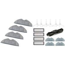 4 Uds de paño de limpieza mopa y 1 Conjunto de cepillo de rodillo filtro Hepa Filtro de paño de mopa reemplazo para 360 S5 S7 Aspiradora