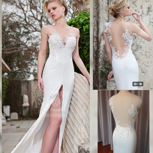 Free Shipping Sexy Backless Romantic 2018 Casamento Appliques Beading Vestido De Noiva Vintage Bridal Gown Bridesmaid Dresses