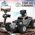 1:18 2.4G Auto RC รถกล้อง HD FPV WIFI 720P รีโมทคอนโทรลไฟฟ้าของเล่นรถยนต์วิทยุควบคุม Rock Crawlers ขับรถ