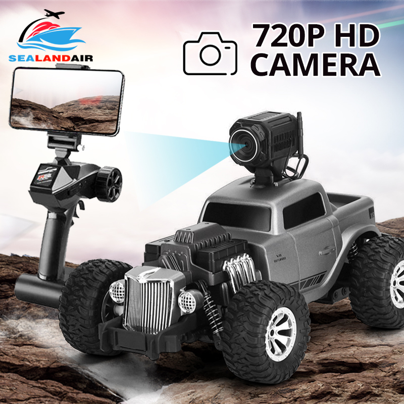 1:18 2.4G Auto RC Car Camera HD FPV WIFI 720P Electric Remote Control Toy Cars On The Radio Controlled Rock Crawlers Driving Car