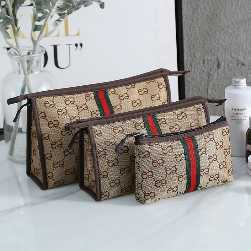 Luxury Design Korean-style Carrying Cosmetic Bag Portable Nursing Large Capacity Bag Western Style Double E Storage Bag 2020 New