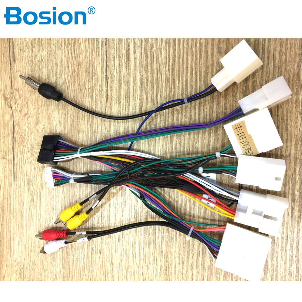 Car ISO Radio Wire Wiring Harness Adapter For Toyota Stereo Radio Receiver Wire Harness Cable