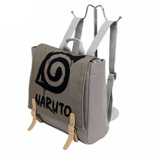 Cartoon Naruto Backpack School Bag Canvas Zipper Anime Satchel Teenagers Travel Bag Laptop Bag Women Men Bag Christmas New Gifts(China)