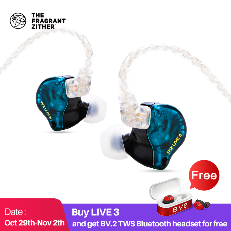 TFZ LIVE 3Hifi In Ear Earphone2 Magnetic 1 0Tesla s Unit HIFI Bass                                  In Ear Monitor Sport Earphone With Upgraded Cable