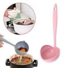 Soup-Spoon Kitchen Utensil Pink Colander Long-Handle 2 with FILTER Skimmer 2-In-1 Dinnerware-Porridge