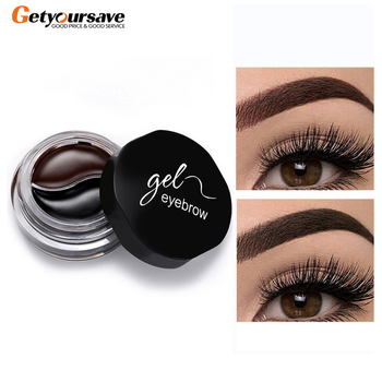 2019 New Two-Color Eyebrow Cream Eyebrow Gel Soft Smooth Smooth Colorable Easy To Color Quick-Drying Waterproof Eyebrow Brush