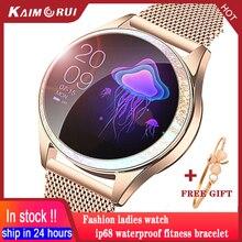 女性のスマートウォッチ2020心拍数IP68防水血液酸素bluetoothフィットネスtrakcer腕時計女性スマートウォッチandroid ios