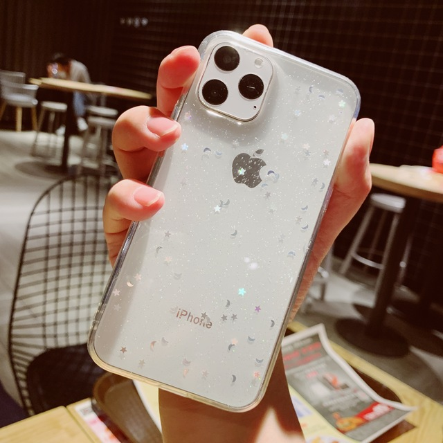 Voor Apple iPhone 6 6s 7 8 Plus 11 Pro 10 X XS XR Max Bling Glitter Ster Maan sparkle Pailletten Soft Clear Silicone TPU Case Cover 3
